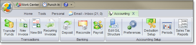 Accounting Functionality